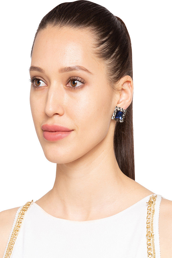 Stone Stud Earrings-3