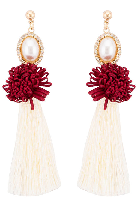 Pearl Thread Tassel Danglers-1