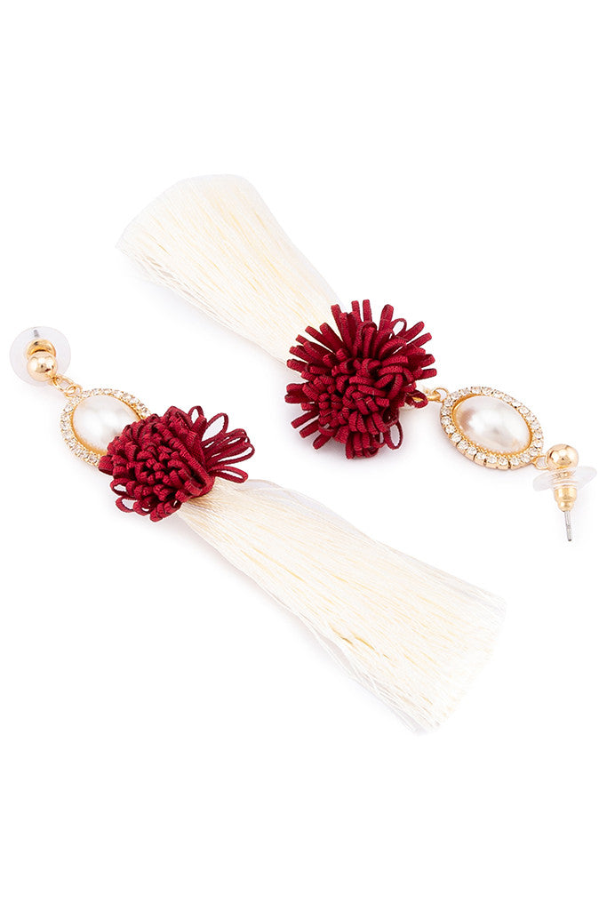 Pearl Thread Tassel Danglers-2
