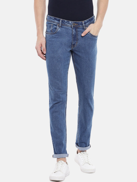 Blue Slim Fit Mid-Rise Clean Look Jeans-1
