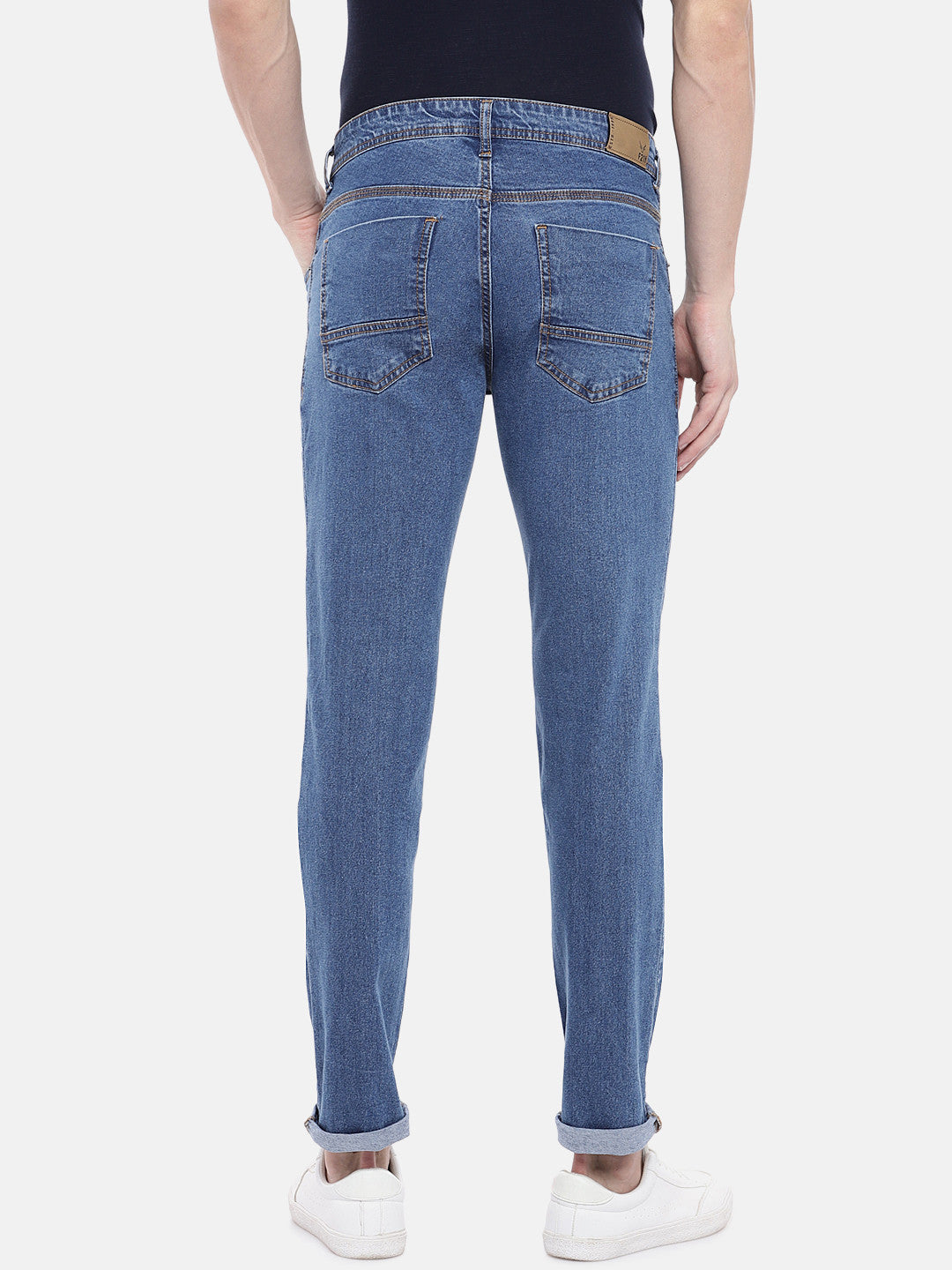 Blue Slim Fit Mid-Rise Clean Look Jeans-3