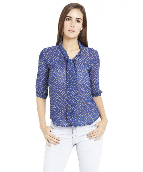 Navy Blue Casual Top-2