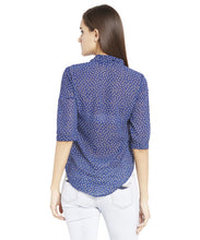 Load image into Gallery viewer, Navy Blue Casual Top-3