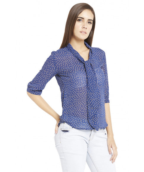 Navy Blue Casual Top-5