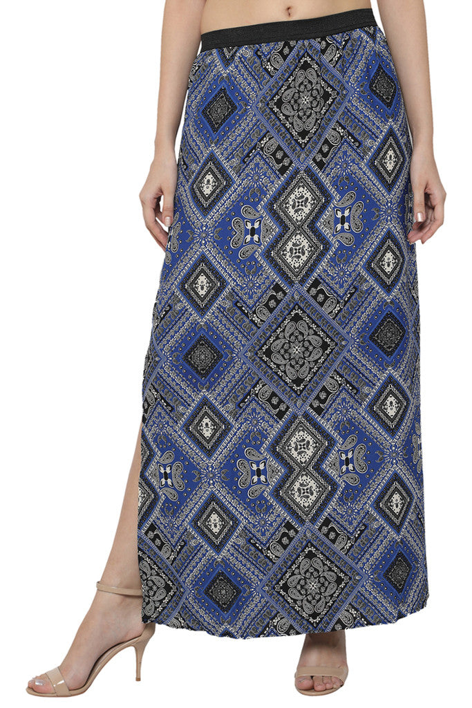 Side Slit Maxi Skirt-1