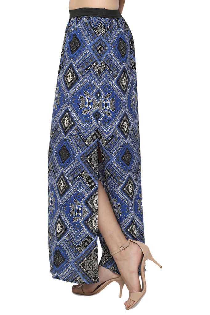 Side Slit Maxi Skirt-2