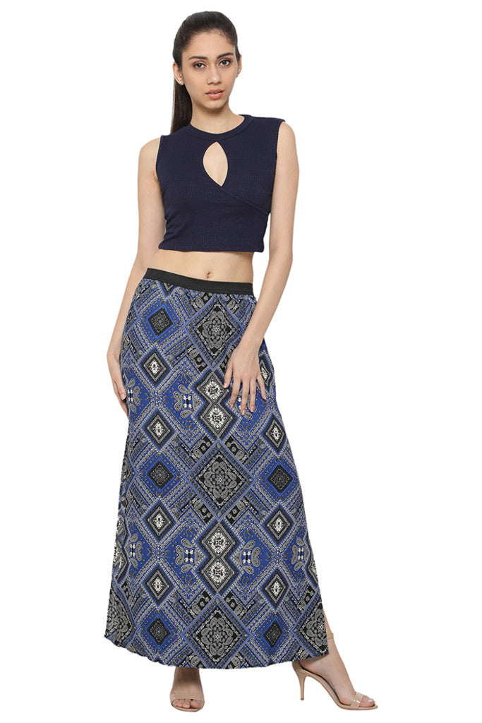 Side Slit Maxi Skirt-4