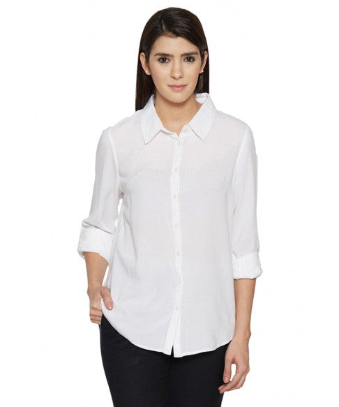 High Low Ivory Shirt-1