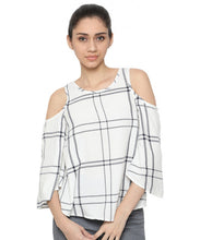 Load image into Gallery viewer, Cold Shoulder Top-1
