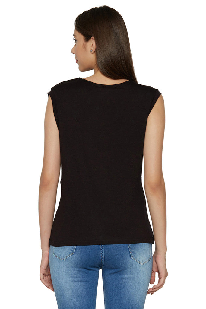 Draped Cowl Neck Top-3