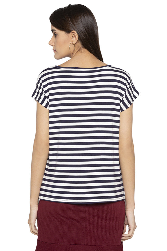 Embroidered Striped Top-3