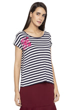 Load image into Gallery viewer, Embroidered Striped Top-4