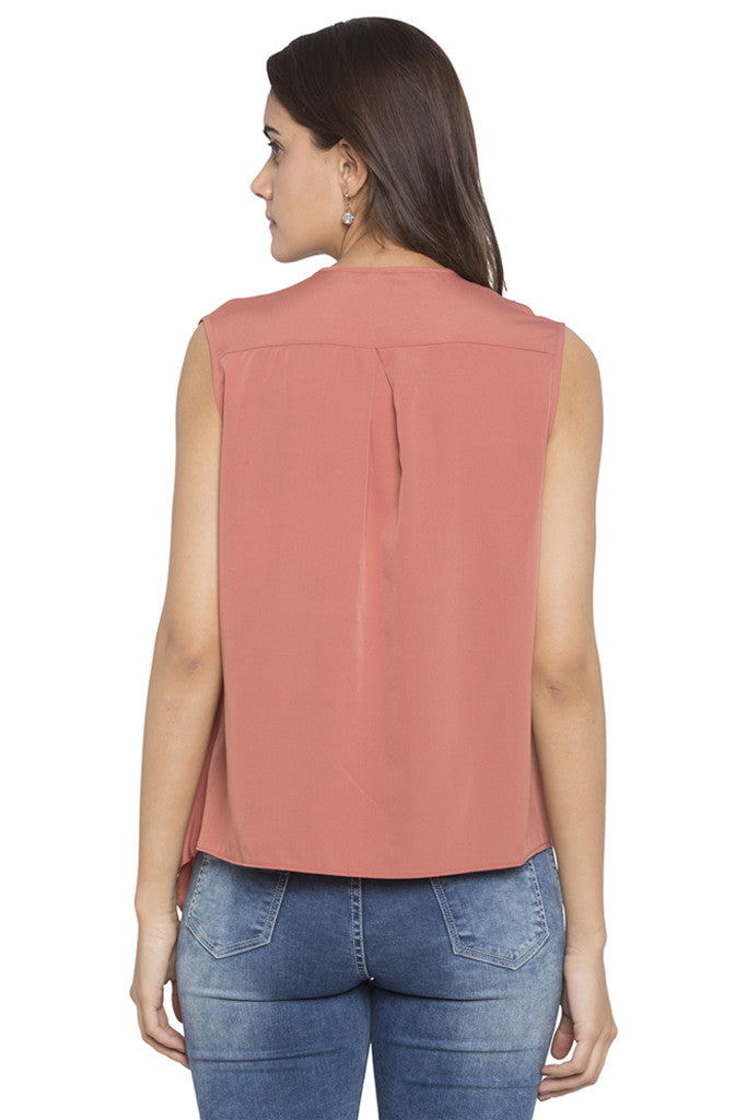 Draped Asymmetrical Hem Top-3
