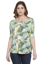 Load image into Gallery viewer, Criss-Cross Neckline Printed Top-1