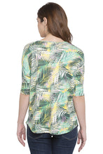 Load image into Gallery viewer, Criss-Cross Neckline Printed Top-3