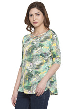 Load image into Gallery viewer, Criss-Cross Neckline Printed Top-4