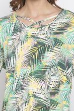 Load image into Gallery viewer, Criss-Cross Neckline Printed Top-5