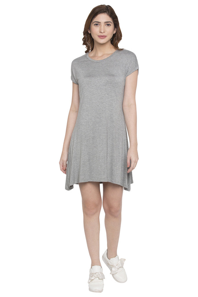Solid Knit Dress-1