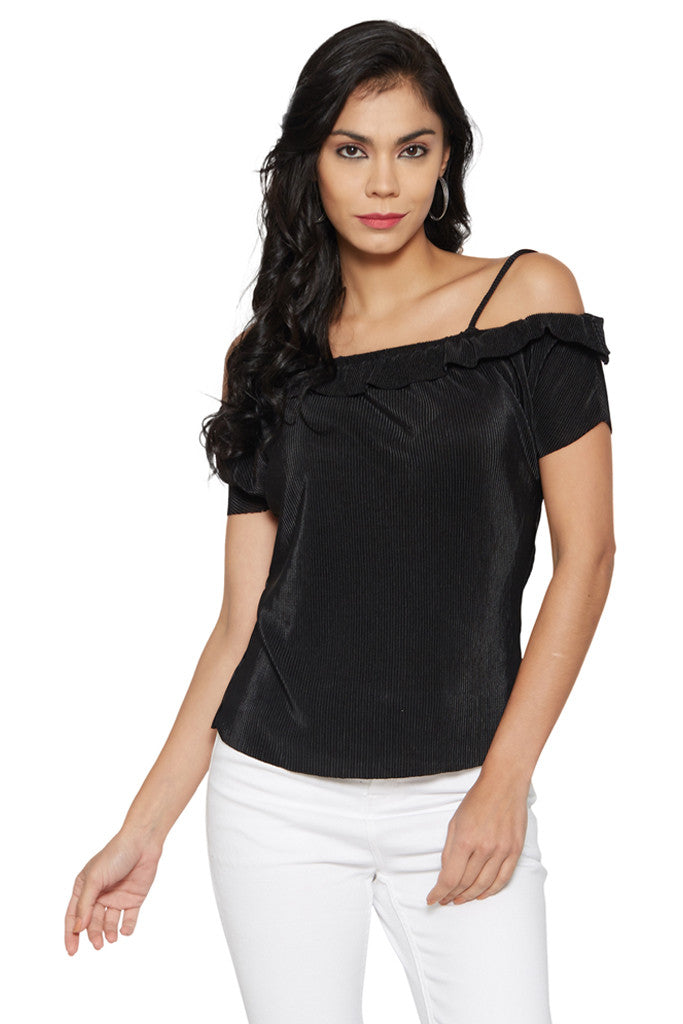 Black Shoulder Straps Top-1