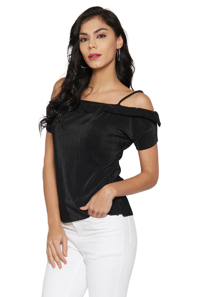 Black Shoulder Straps Top-2