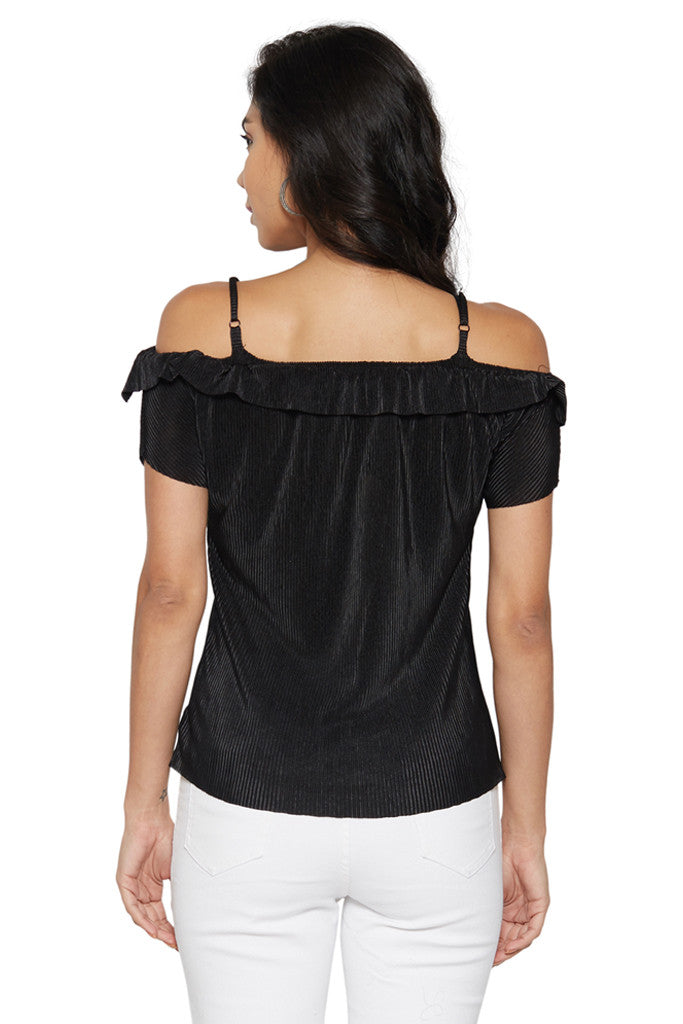 Black Shoulder Straps Top-3