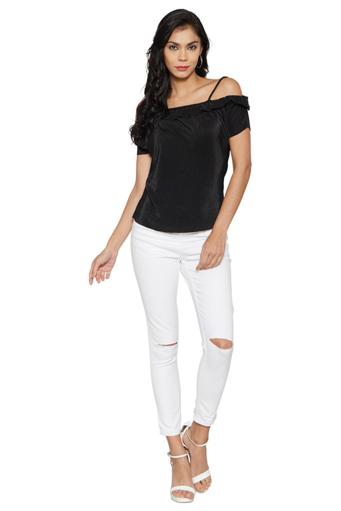 Black Shoulder Straps Top-5