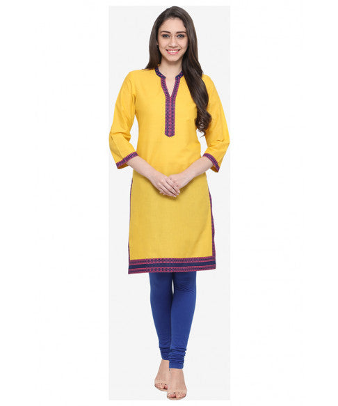Yellow Ethnic Kurta-1