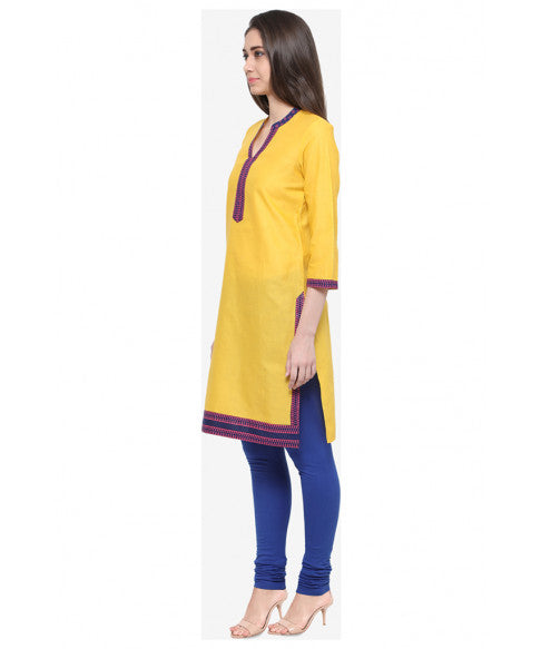 Yellow Ethnic Kurta-2