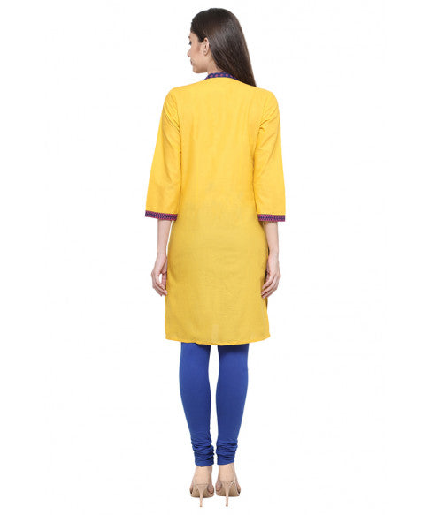 Yellow Ethnic Kurta-3