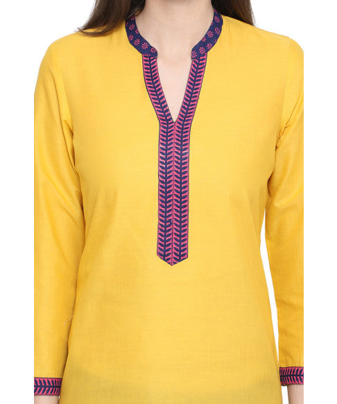 Yellow Ethnic Kurta-4