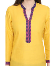 Load image into Gallery viewer, Yellow Ethnic Kurta-4