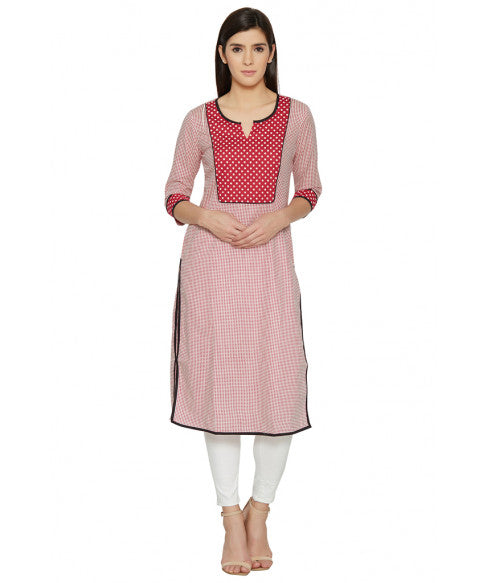Red Column Kurta-1