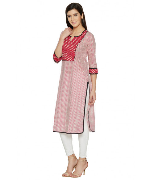 Red Column Kurta-2