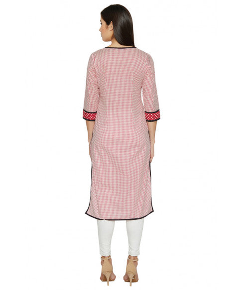 Red Column Kurta-3