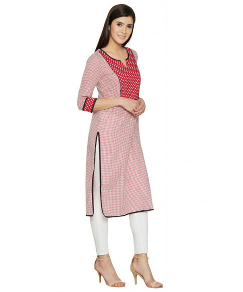 Red Column Kurta-4