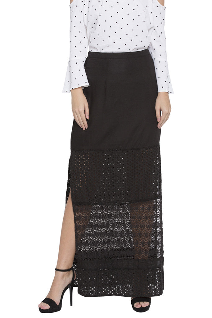 Black Lace Skirt-1
