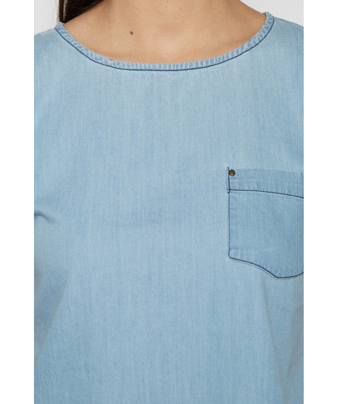 Denim Boxy Short Top-6