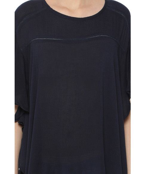 Navy Blue Boxy Top-5