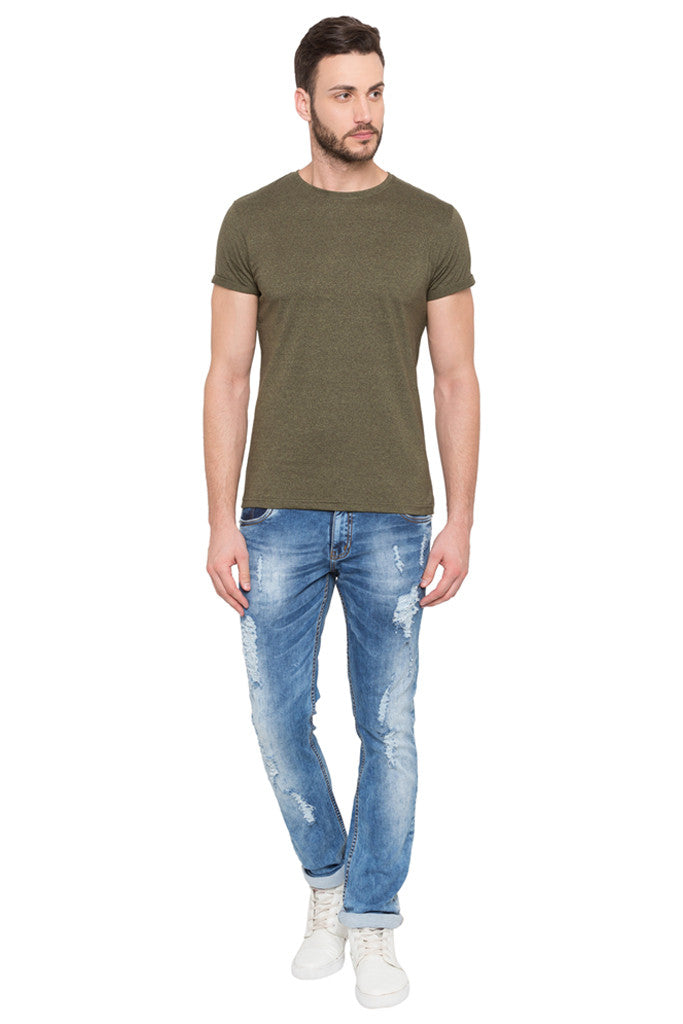 Skinny Fit Distressed Denims-2