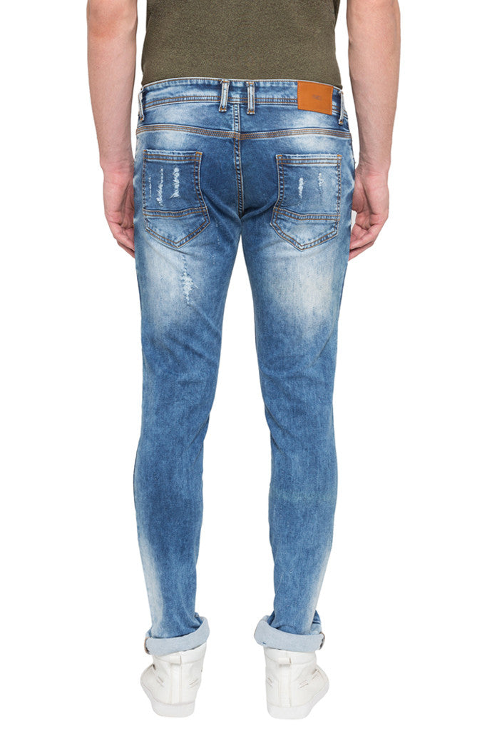 Skinny Fit Distressed Denims-3