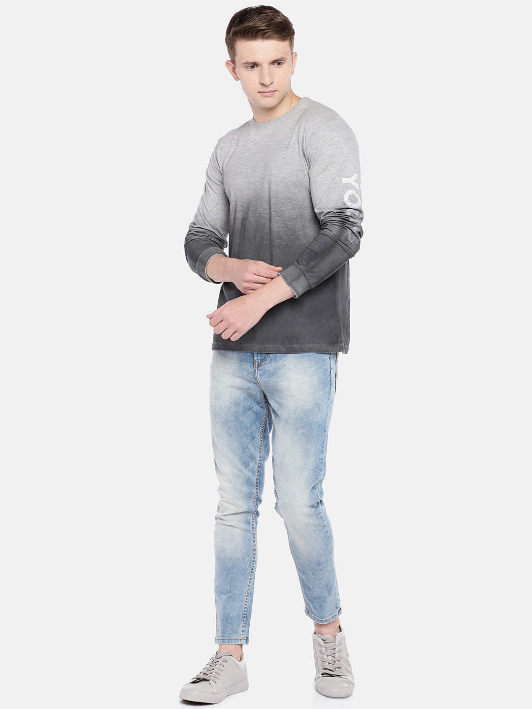Blue Regular Fit Mid-Rise Clean Look Stretchable Jeans-4
