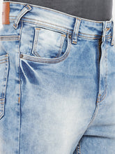Load image into Gallery viewer, Blue Regular Fit Mid-Rise Clean Look Stretchable Jeans-5
