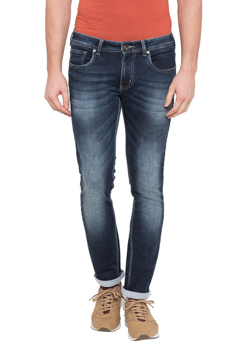 Skinny Fit Washed Denims-1