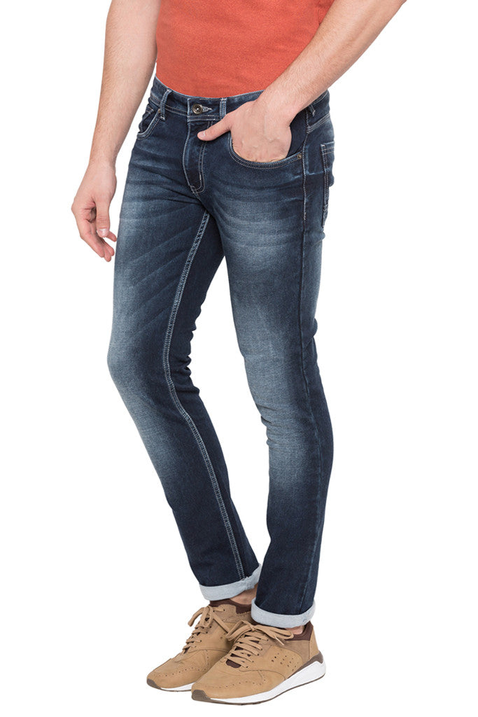 Skinny Fit Washed Denims-4