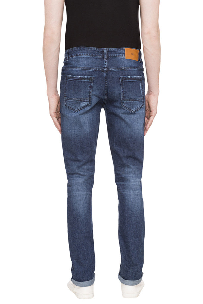Patch Work Slim Fit Denims-3