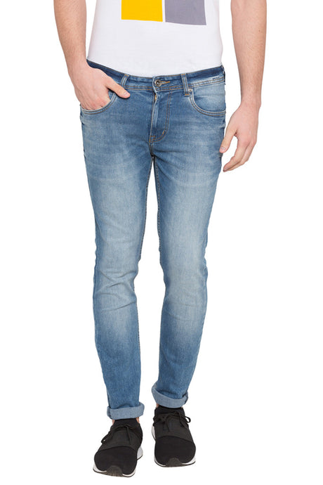 Skinny Fit Faded Denims-1