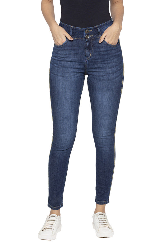 Two Button Skinny Fit Denims-1