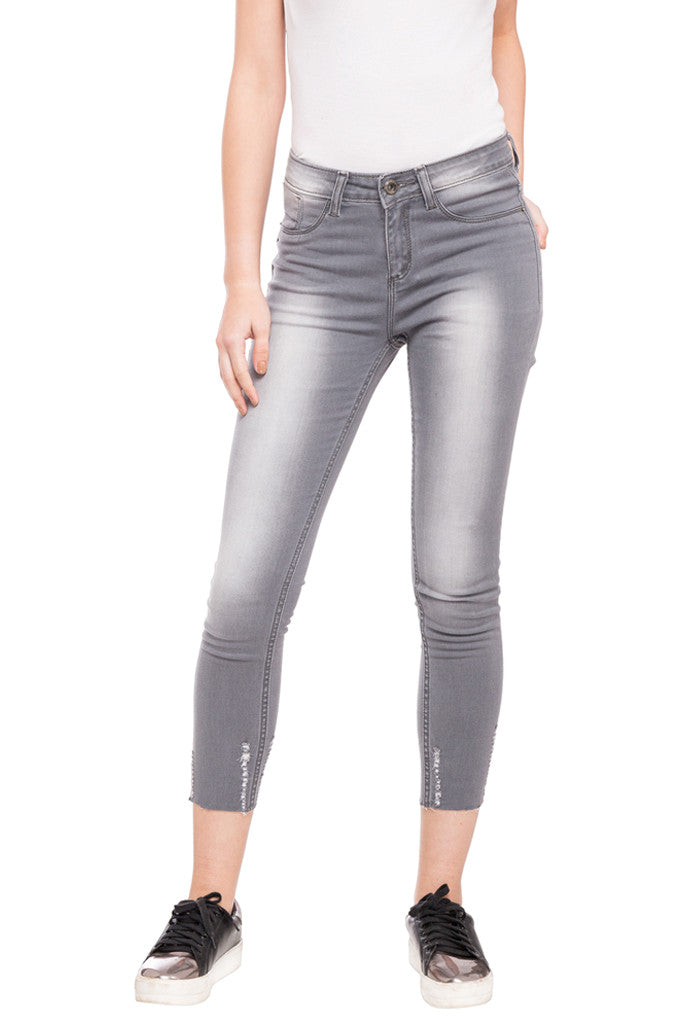 Skinny Fit Cropped Denims-1