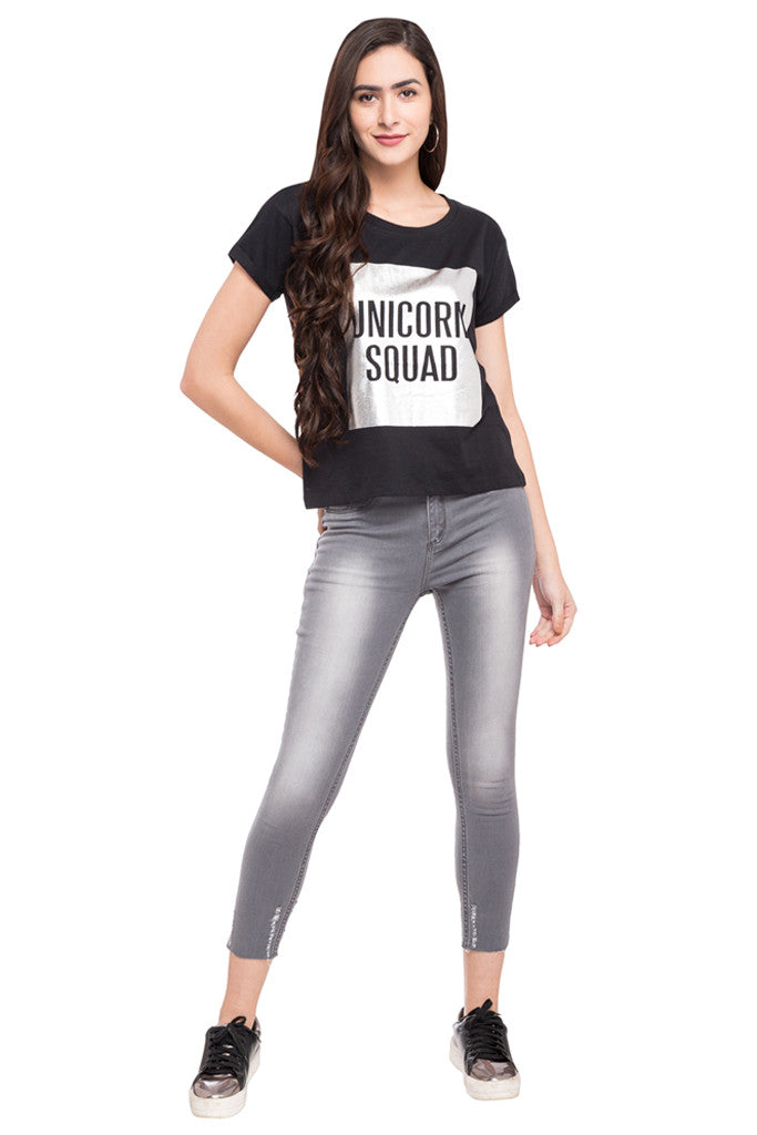 Skinny Fit Cropped Denims-2