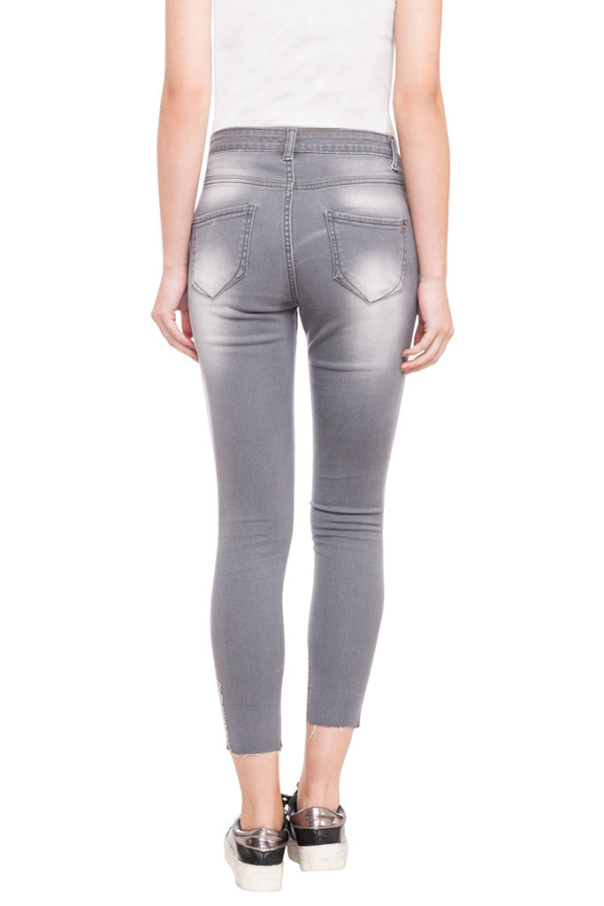 Skinny Fit Cropped Denims-3